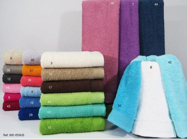 toallas venus trovador de distintos colores para hogar y hosteleria