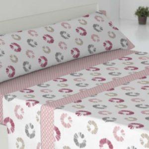 juego de sabanas cisne rojo modelo iris rosa