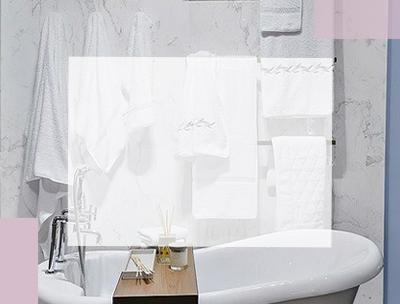 banner toallas blancas